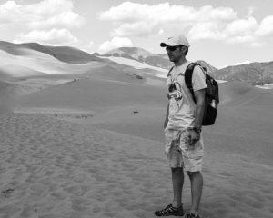 My Husband At Sand Dunes Colorado