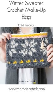 Pretty free crochet zipper bag tutorial