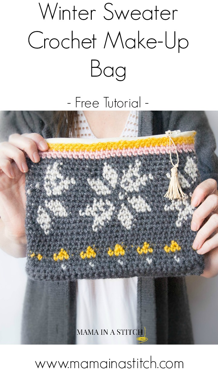 Crochet Zipper Stitch : Knit Look Sweater Tapestry Crochet Bag - Mama In A Stitch