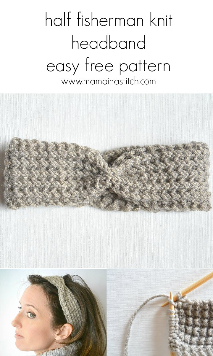 Half Fisherman Knit Headband & Downton Abbey Yarn - Mama ...