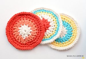 Crochet Coasters Easy Round Pattern