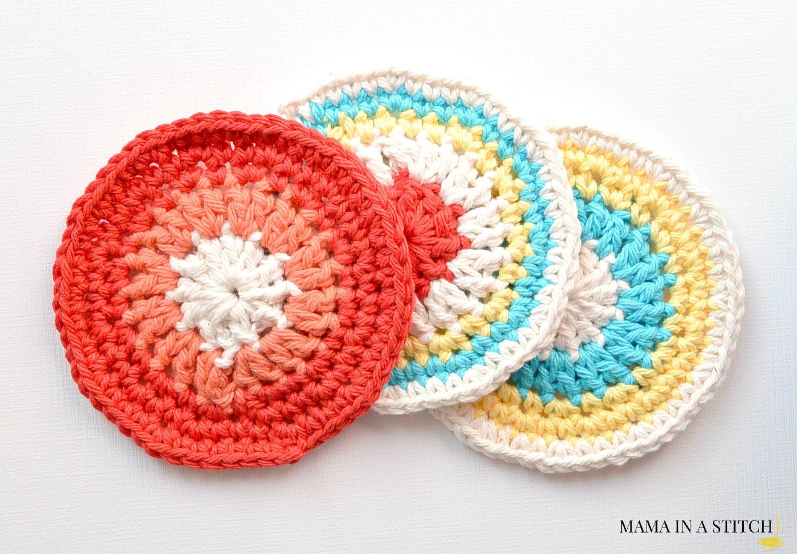 Free Vintage Crochet Coaster Patterns : Colorful Little