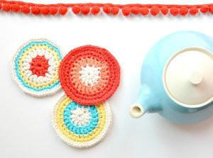 Crochet Round Coasters - Colorful Pattern
