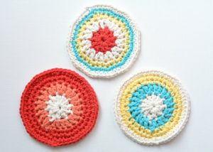 Crochet Round Coasters Pattern