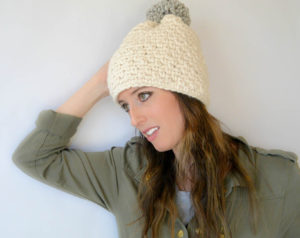 Easy Chunky Crochet Hat Woven Look