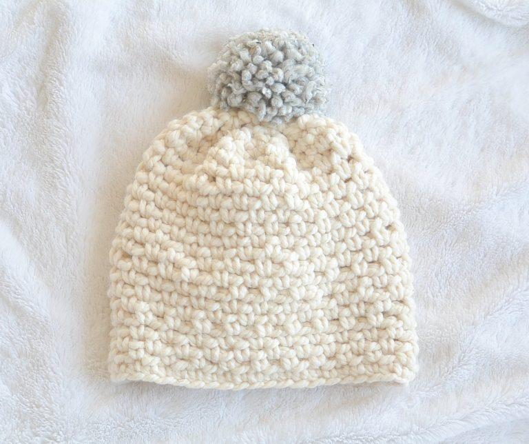Ski Lodge Chunky Pom Hat by Jessica @ Mama in a Stitch