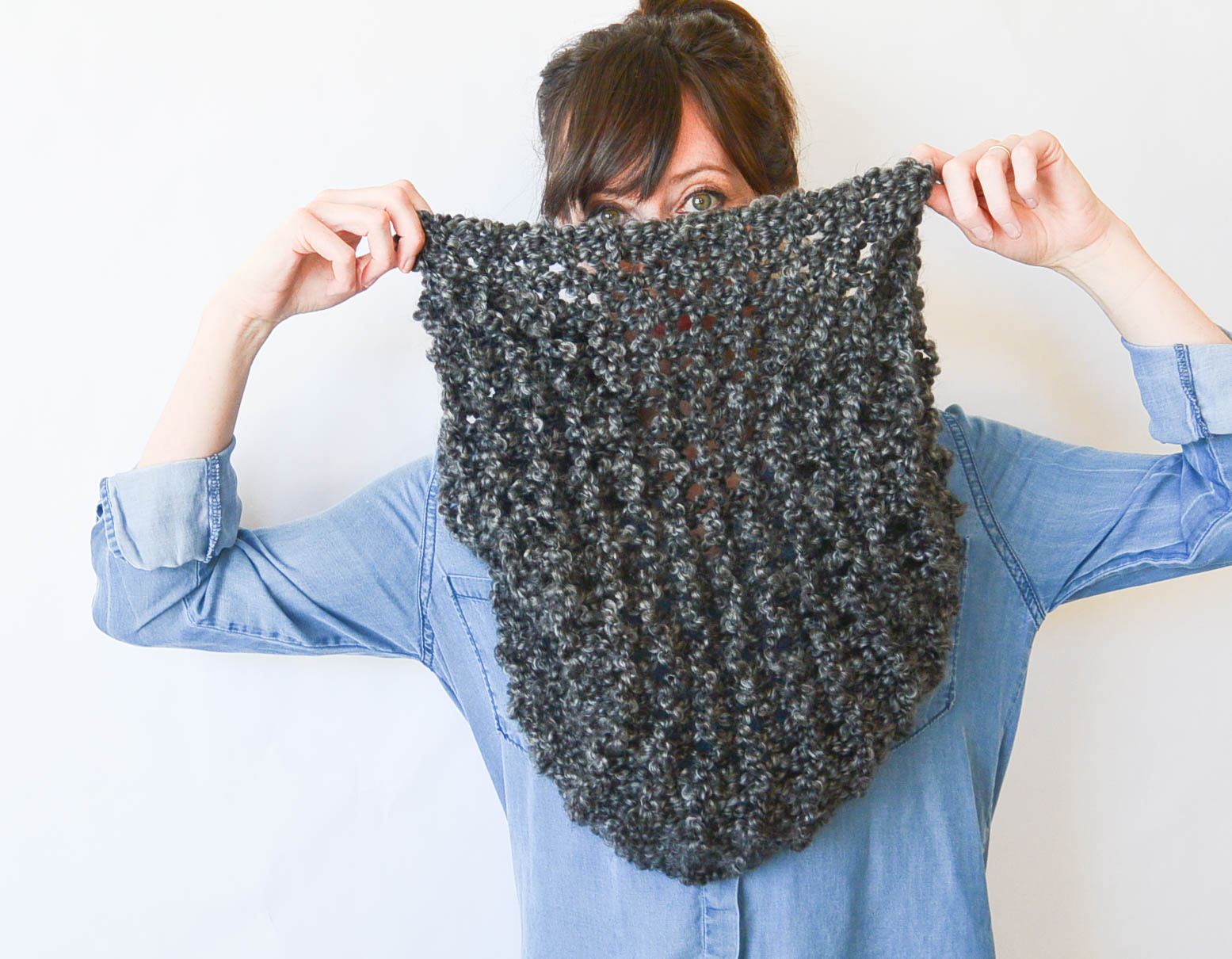 Tall Eiffel Cowl Beginner Knitting Pattern Mama In A Stitch