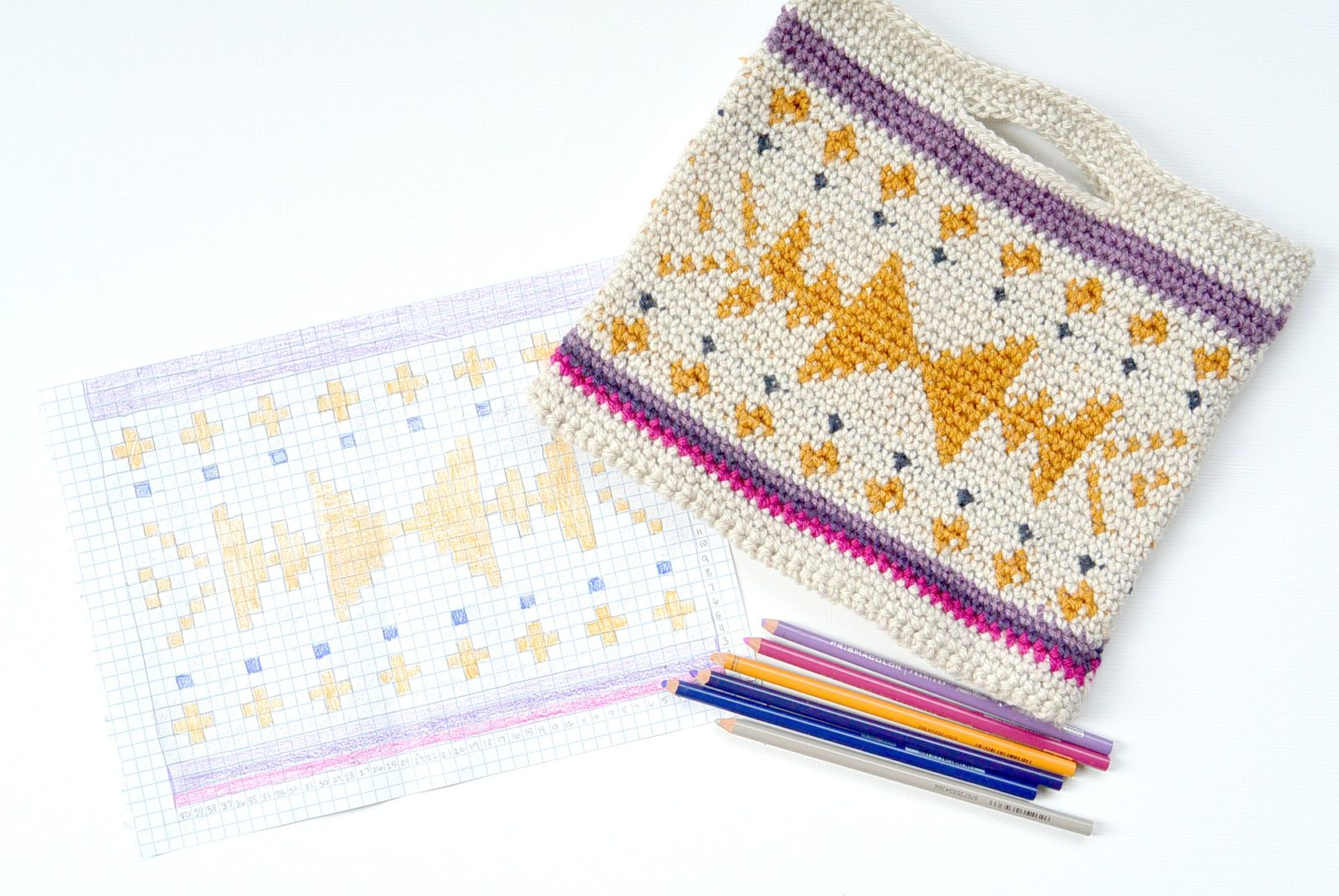 Crocheted Southwest Tote AND Coloring? Yes Please! – Mama In