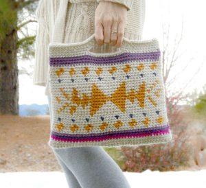Southwest Tribal Tapestry Crochet Bag Pattern