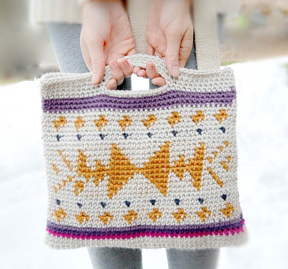 Crocheted Southwest Tote AND Coloring? Yes Please!