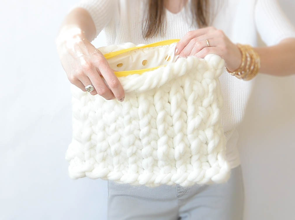 Giant Yarn Plush Knit Bag Pattern Mama In A Stitch