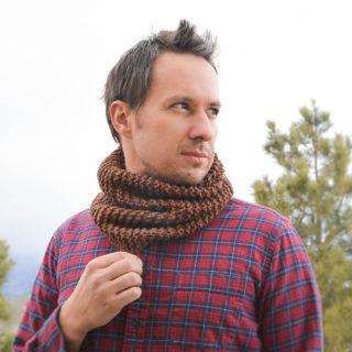 Begiinner Men's Knit Cowl