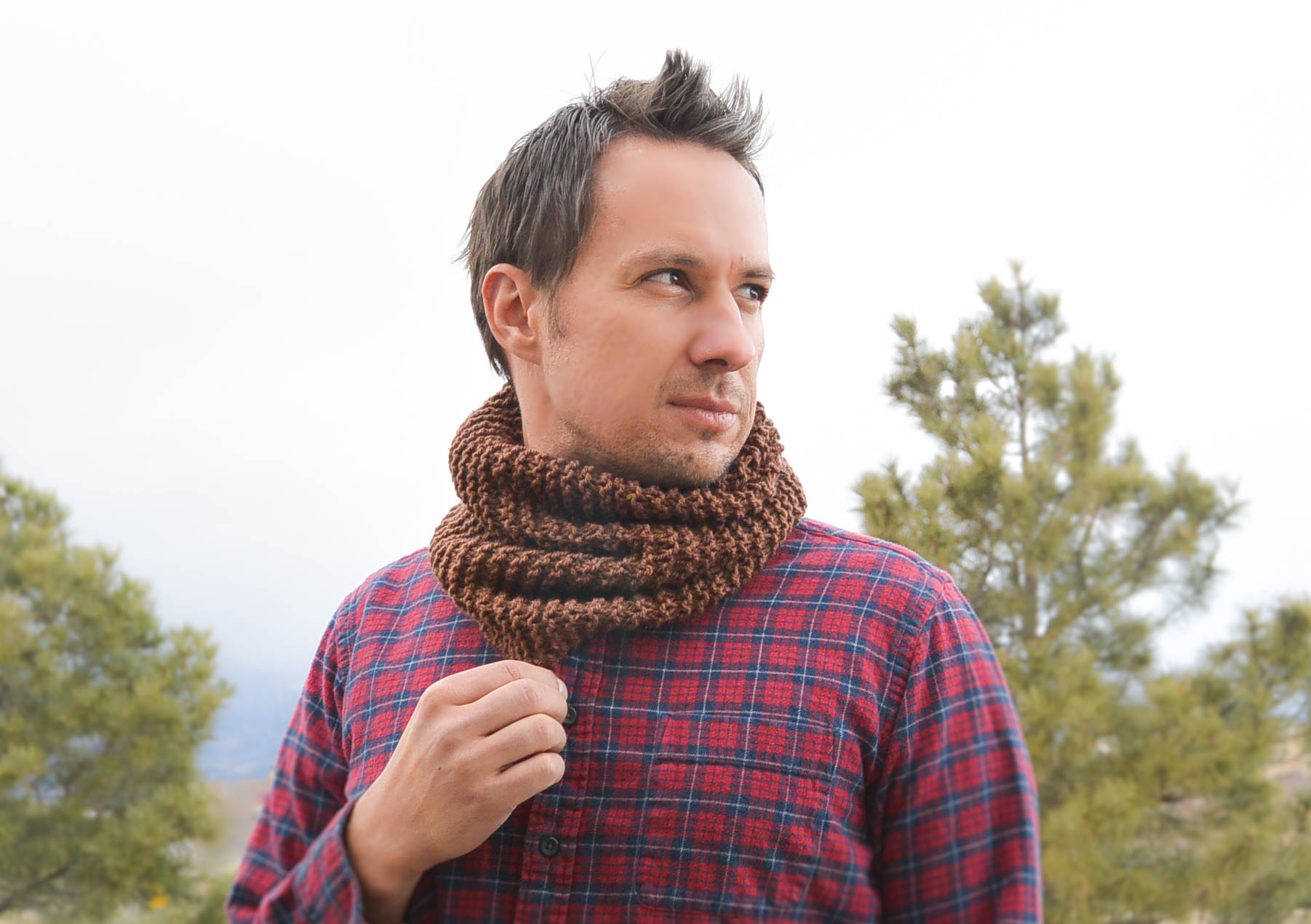 Manly Man Beginner Knit Cowl