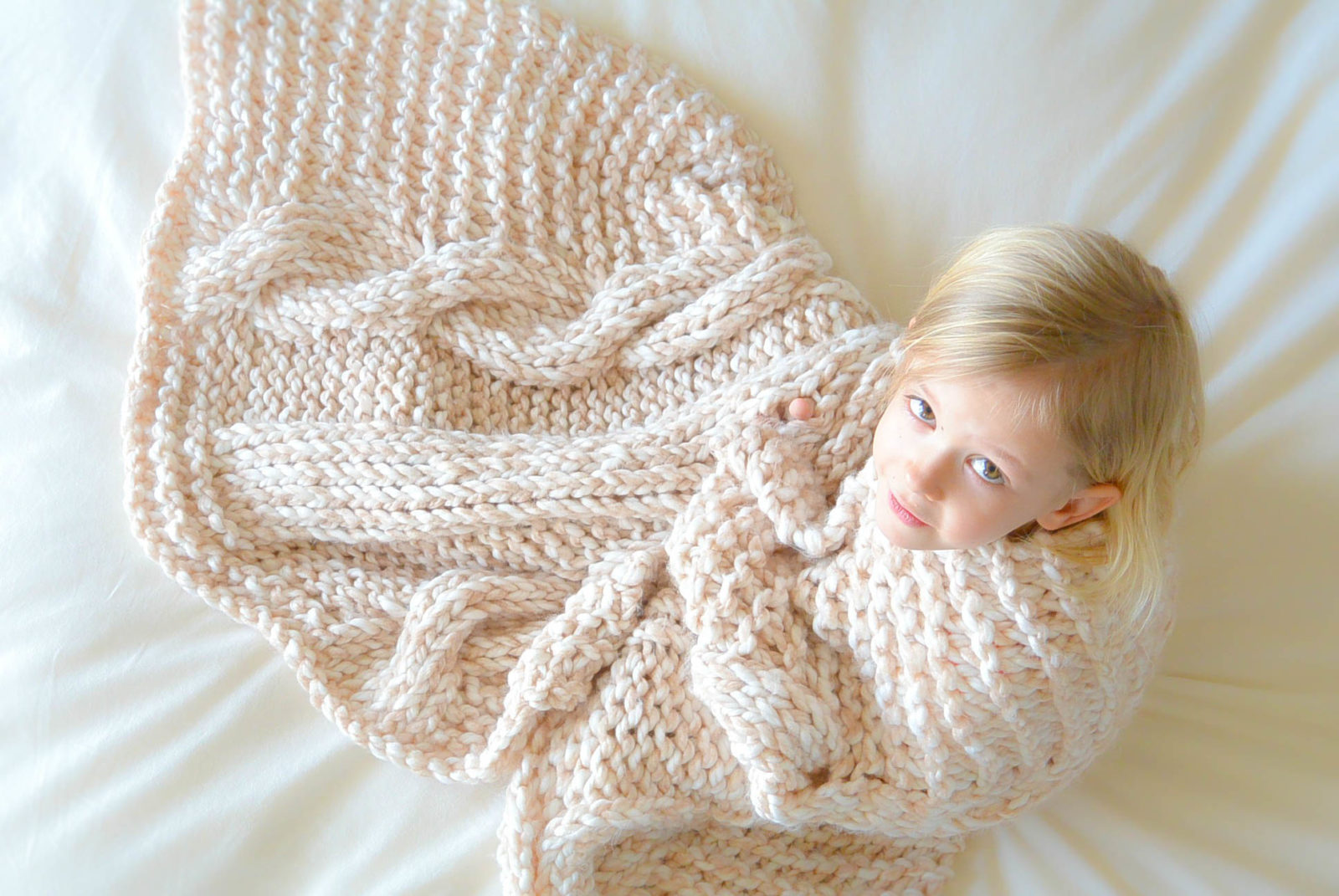 Pattern For Knitted Throw Blanket : Endless Cables Chunky Knit Throw Pattern   Mama In A Stitch