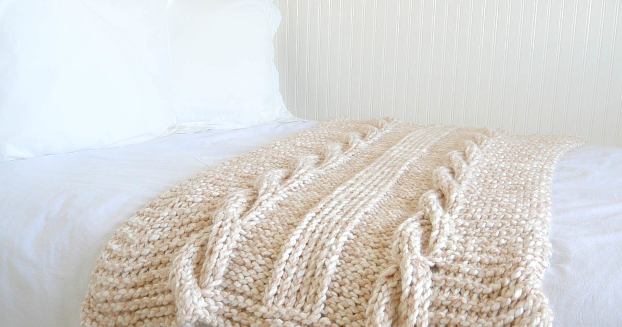 Endless Cables Chunky Knit Throw Pattern Mama In A Stitch