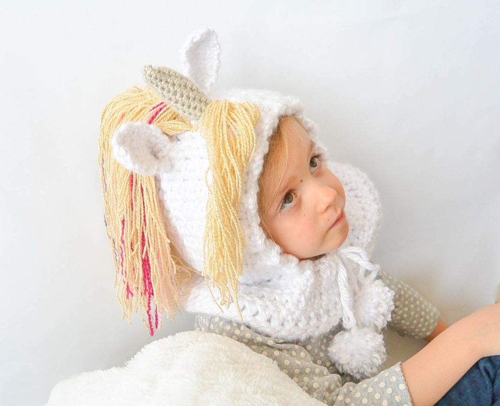 Toddler Magical Unicorn Crochet Hood Pattern Mama In A