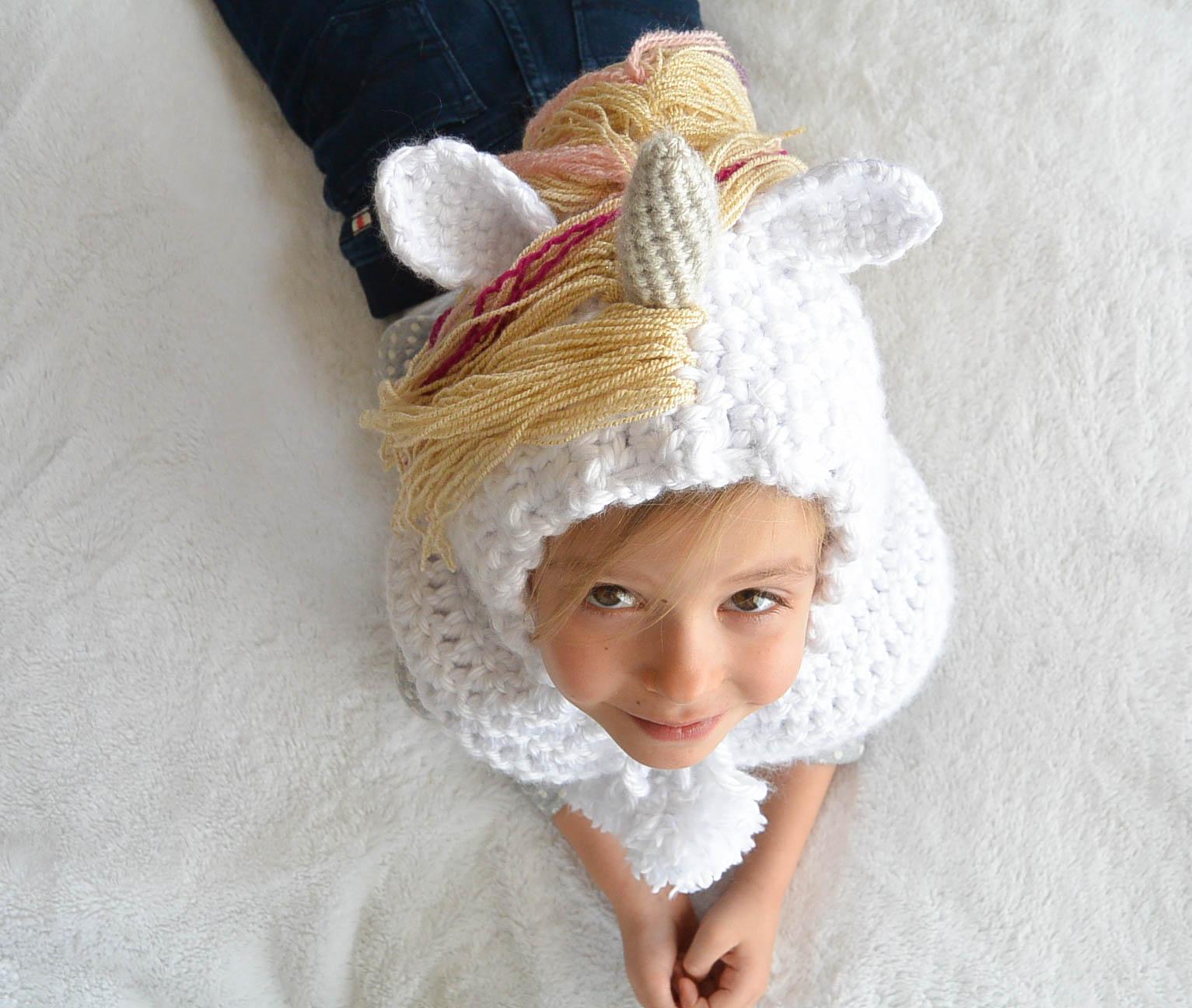 Toddler Magical Unicorn Crochet Hood Pattern Mama In A Stitch