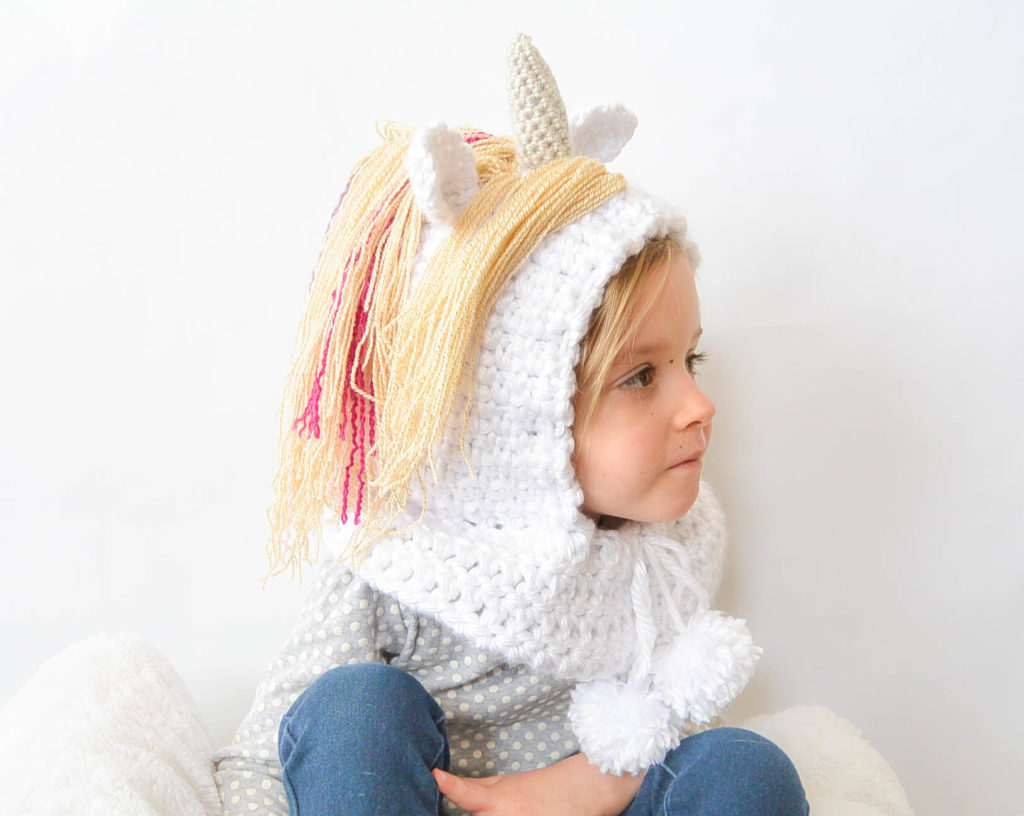 toddler magical unicorn crochet hood pattern � mama in a