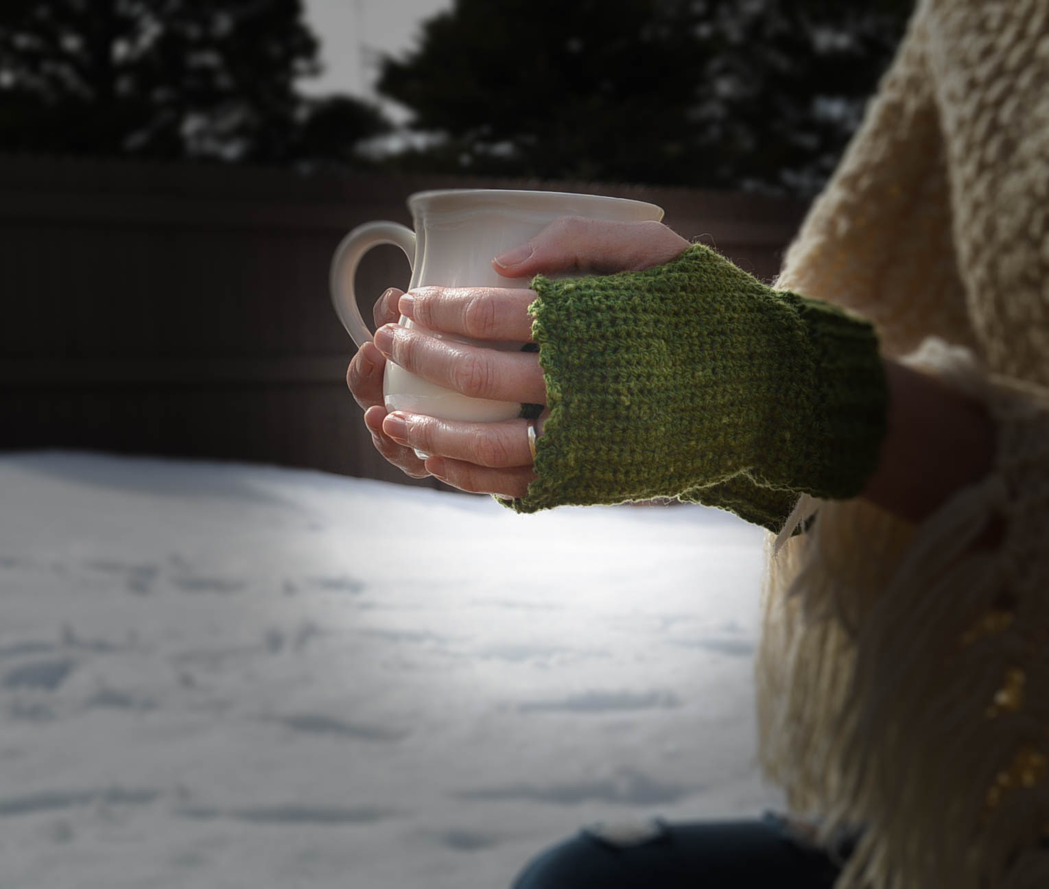 Easy Crochet MMW Fingerless Mitts