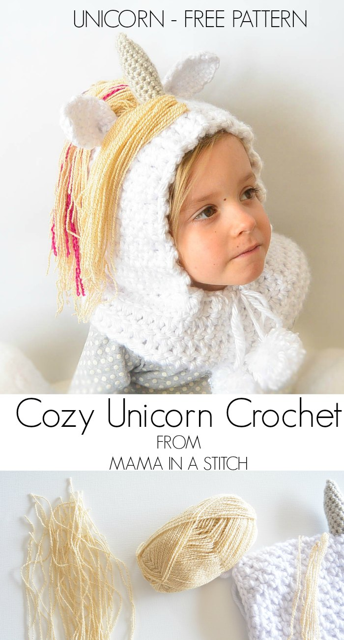 Crochet Unicorn Hooded Scarf Pattern : ... crocheted unicorn hood i hope your little unicorn enjoys this as much