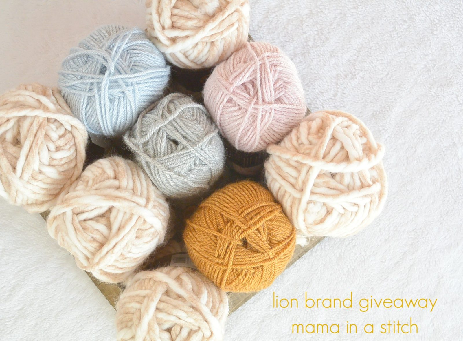 Lion brand cozy giveaway