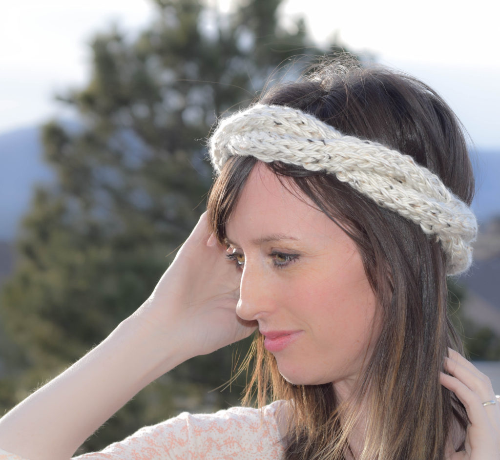 Simple Knit Headband Pattern : Cabled Knit Chunky Easy Headband Pattern