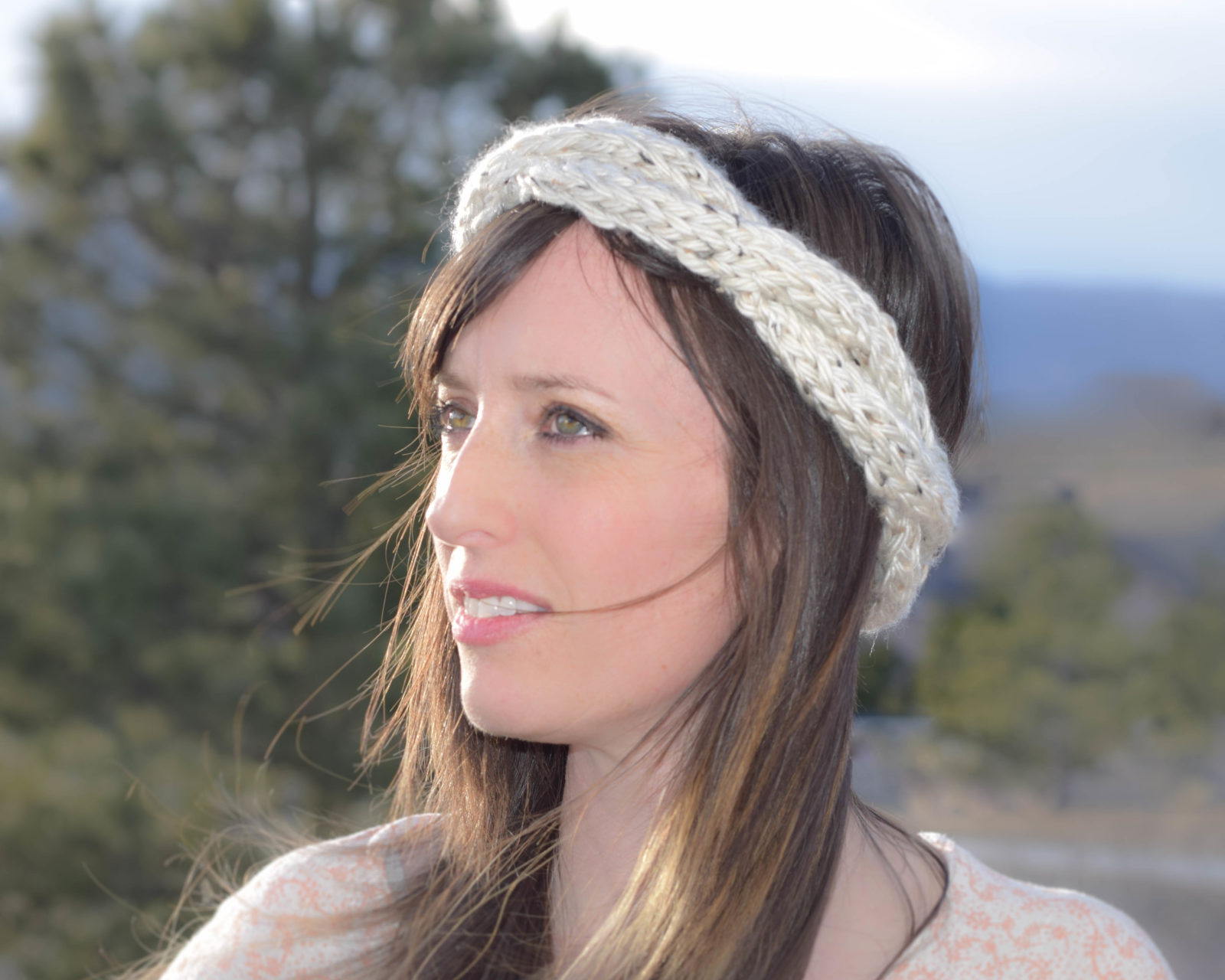 liking the headband because it has the chunky knit look, but it ...