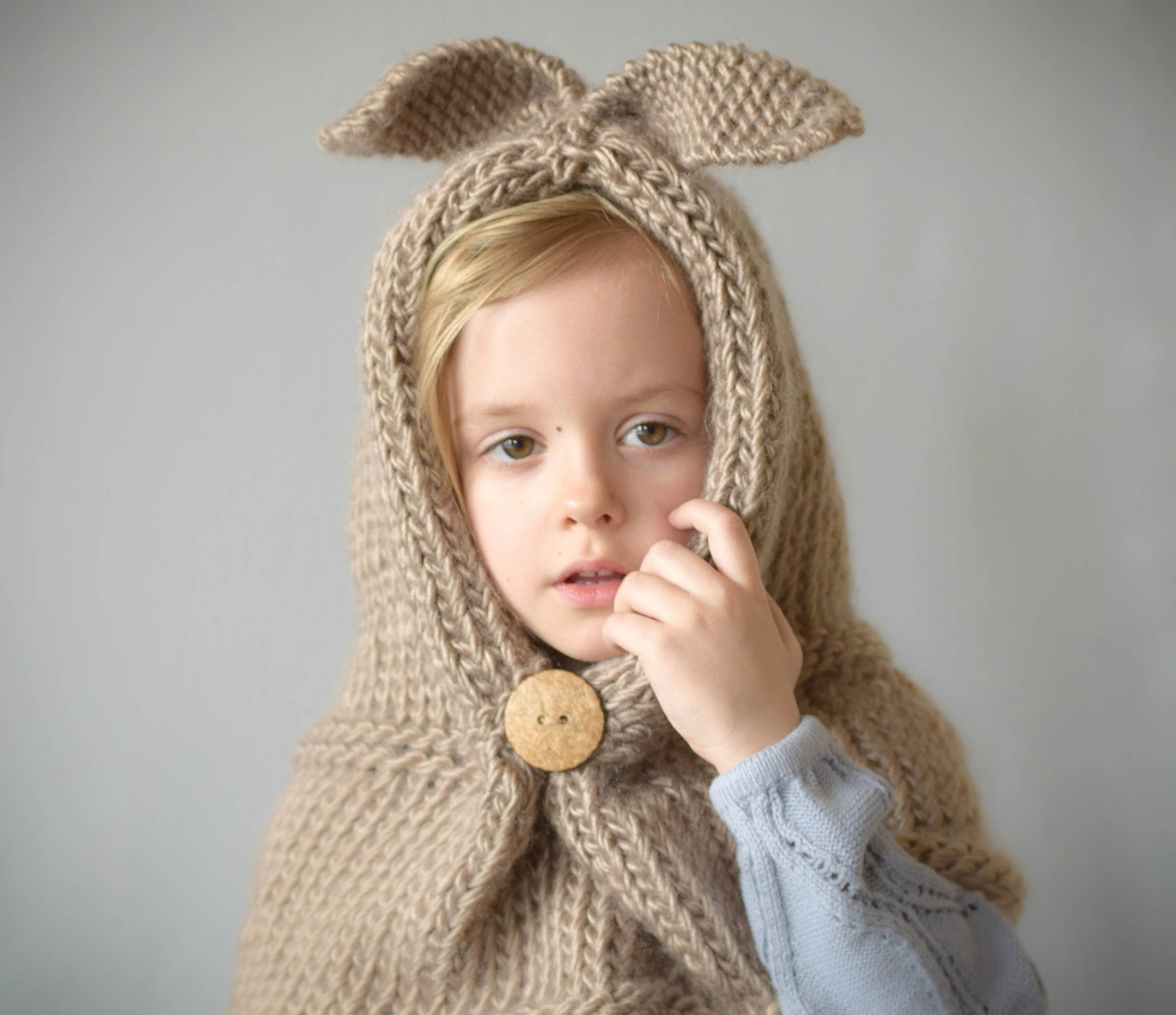 Free Knitting Patterns Cowl Hat : Velvet Rabbit Hooded Stole/Cowl Pattern   Mama In A Stitch