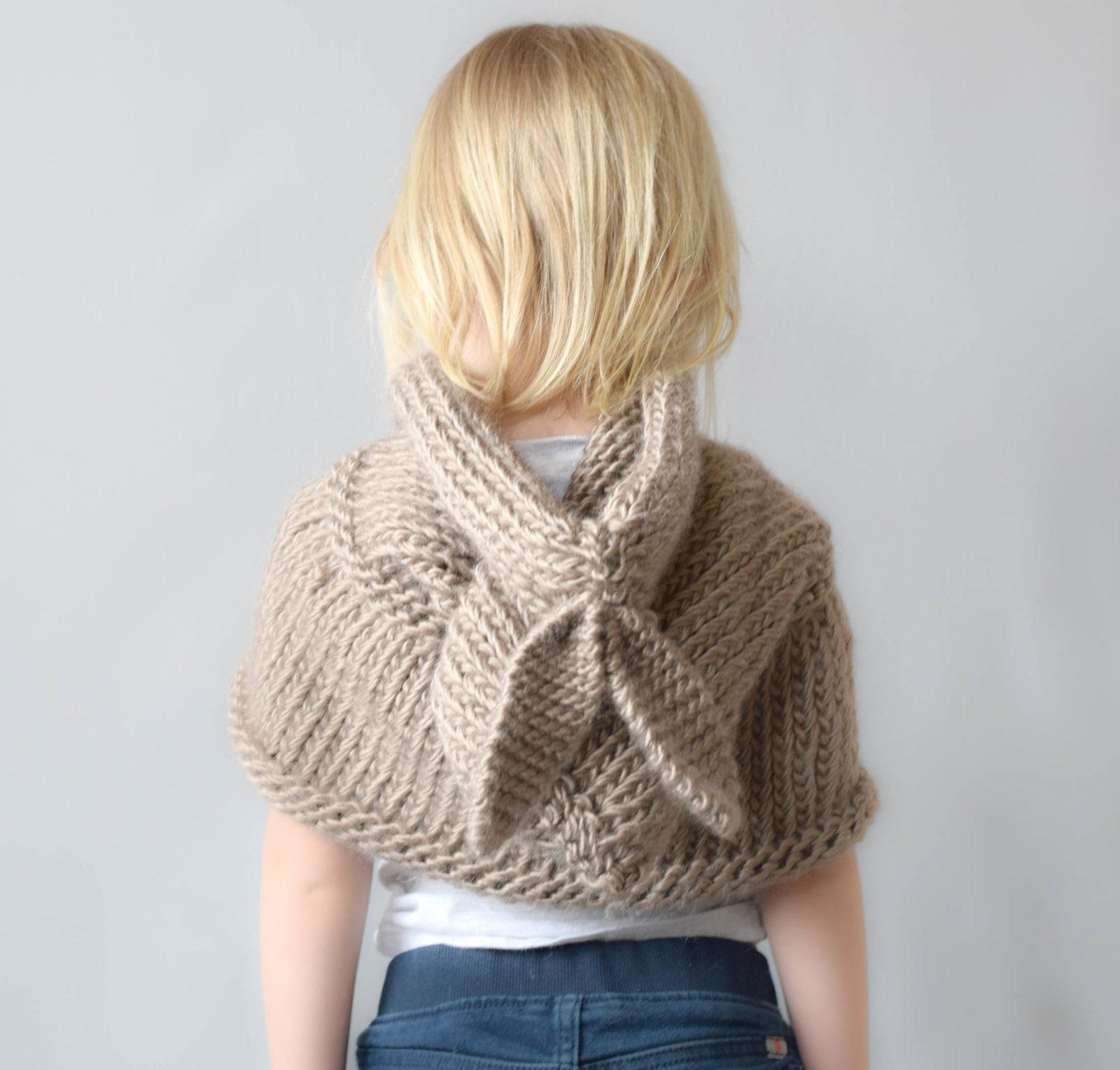 Free Knitting Pattern - Bunny Hood Shawl