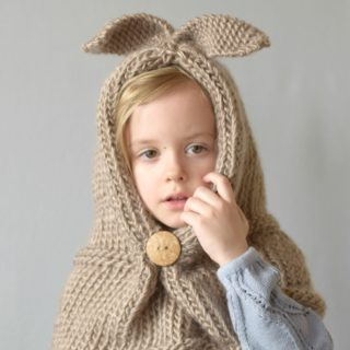 Knit Bunny Hood