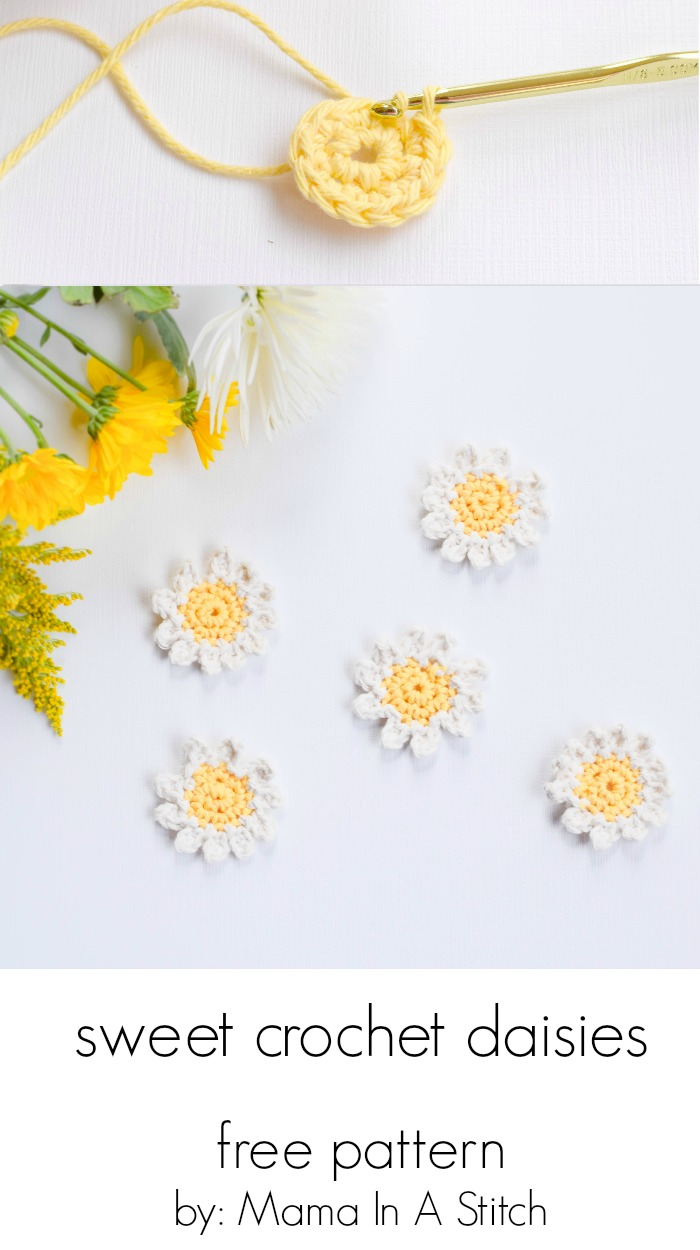 Sweet Daisies Free Flower Crochet Pattern Mama In A Stitch