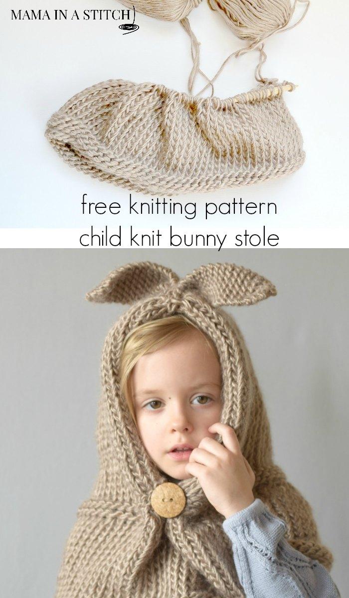 Knit Bunny Hat Pattern – Mama In A Stitch