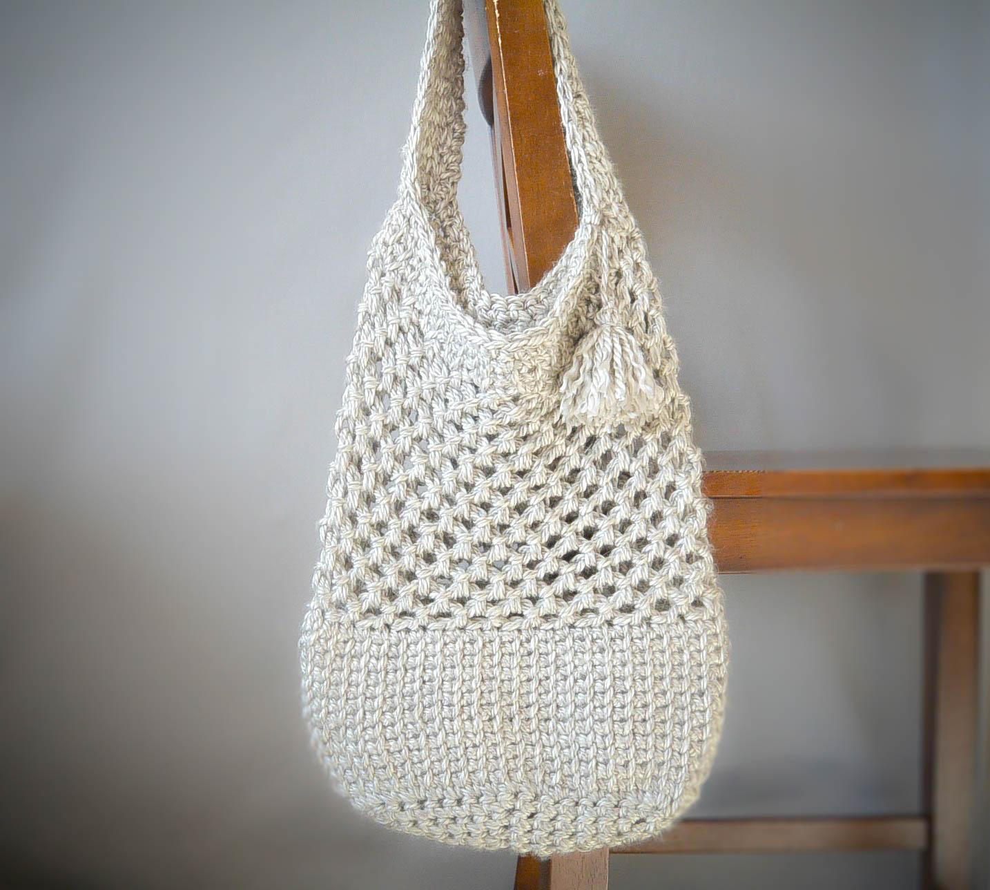 Manhattan Market Tote - Crochet Pattern – Mama In A Stitch