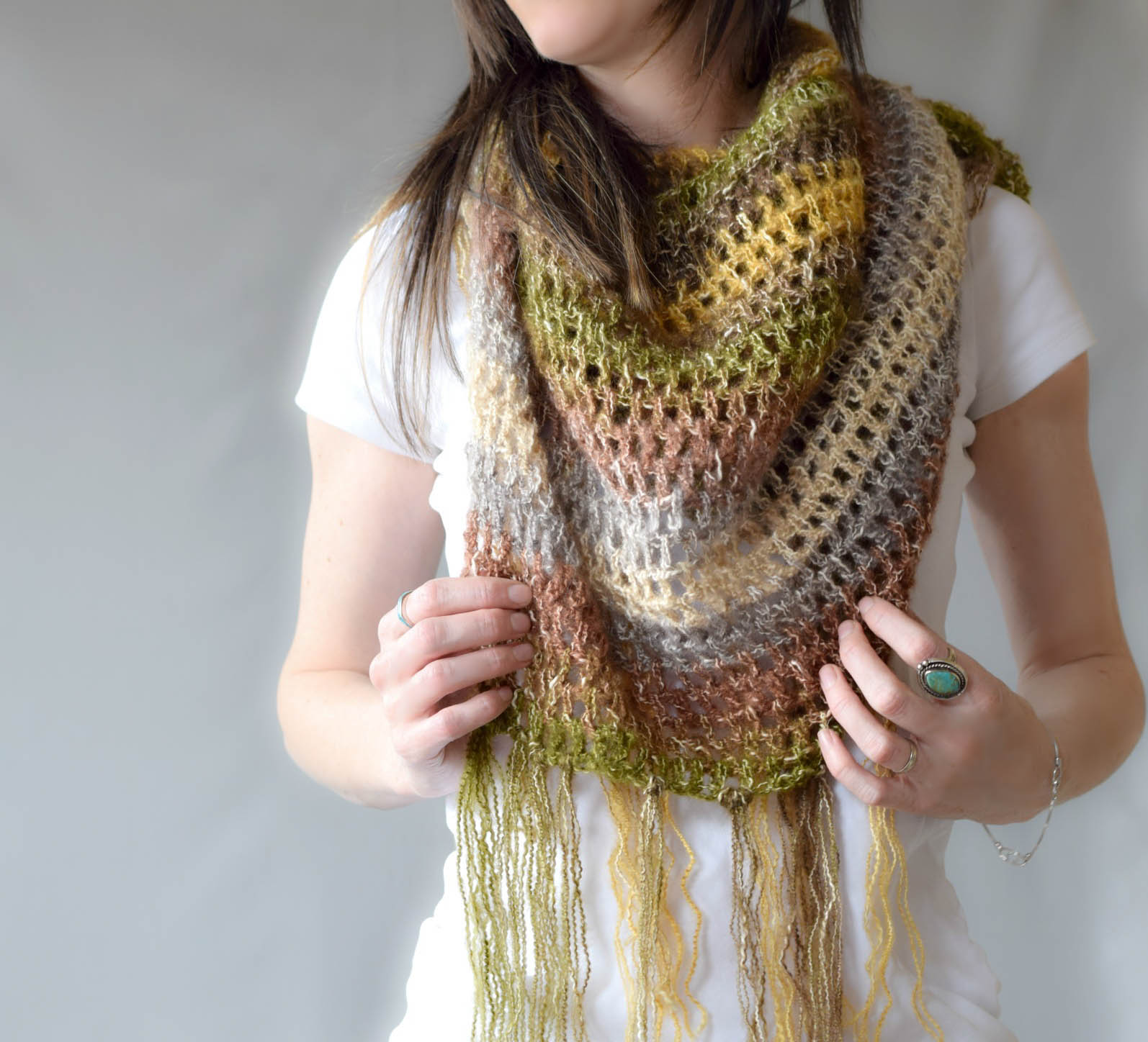 One Skein Scarf Shawl Crochet Pattern