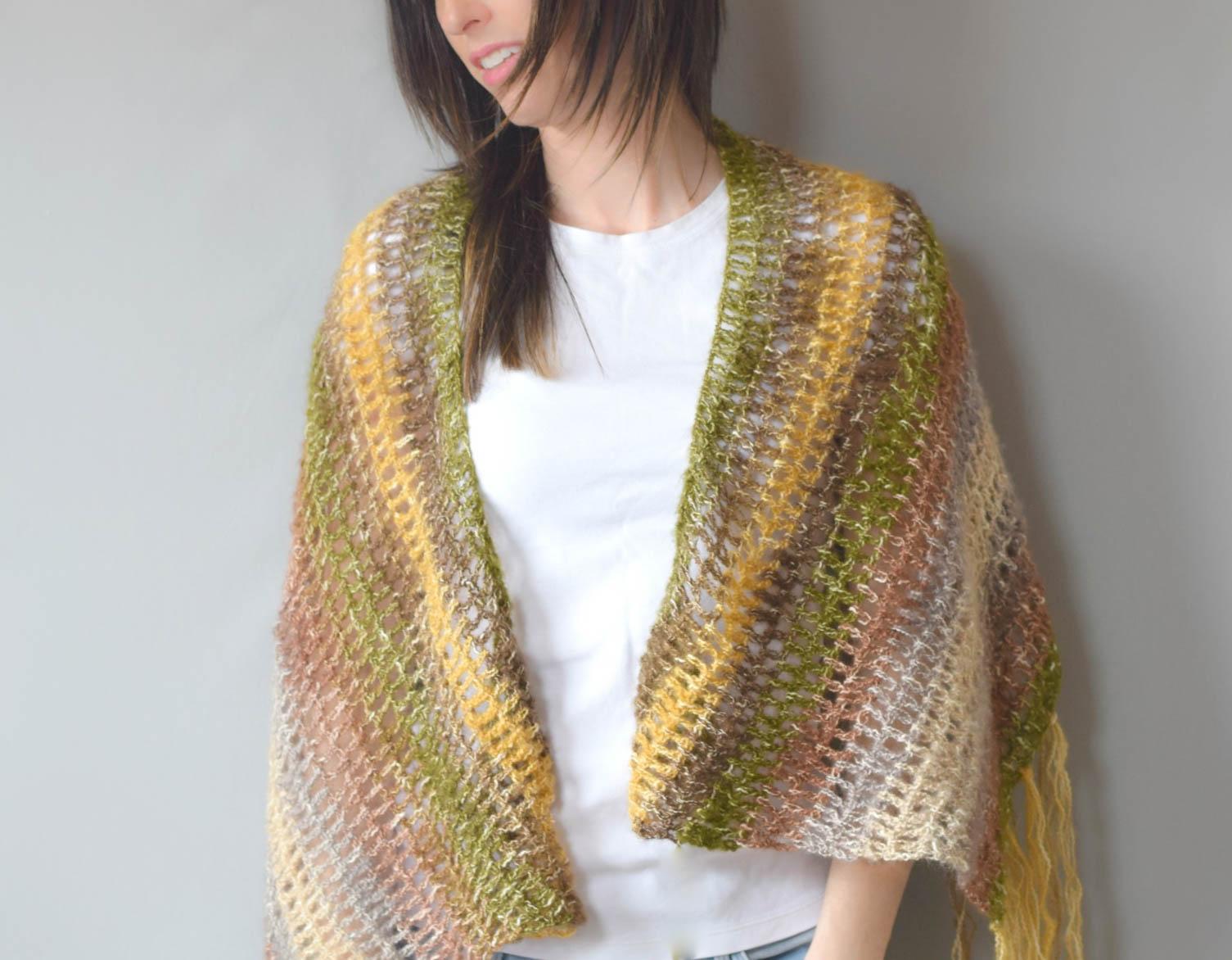 Crochet Pattern For Small Shawl : One Skein Crochet