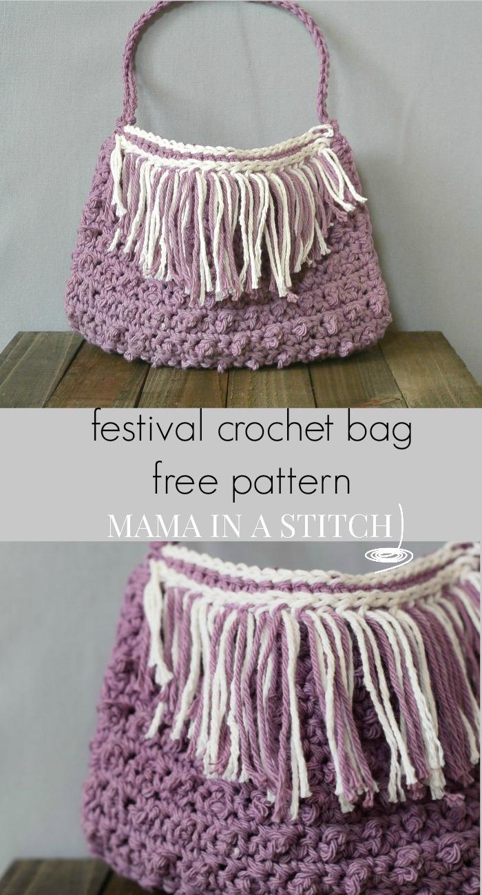 Festival Fringed Crochet Purse Pattern Mama In A Stitch