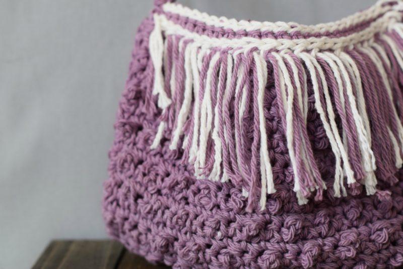 Crochet Fringe Bag : Festival Fringed Crochet Purse Pattern