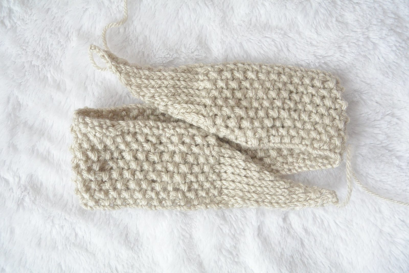 Free Knitting Pattern For Baby Blanket Easy : Vintage Knit Tie Headband Pattern   Mama In A Stitch