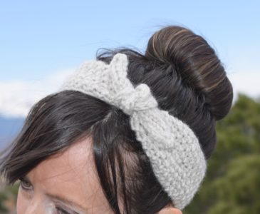 Knit Headband Tie Up Free Pattern