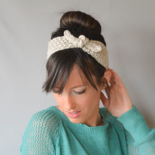Vintage Tie Up Knit Headband