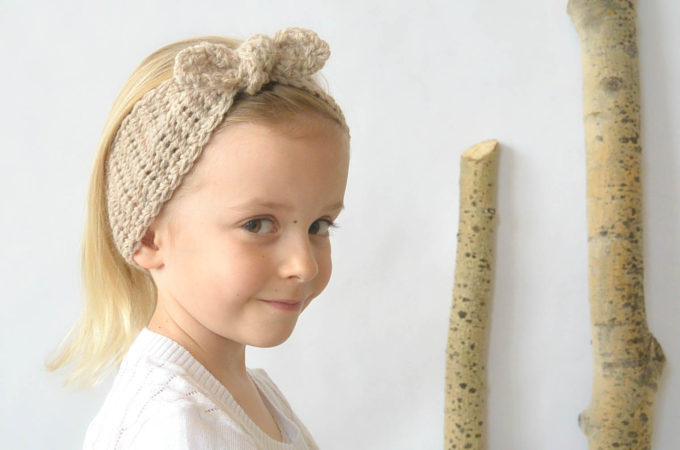 Naturally Chic Tie-Up Crochet Headband Pattern