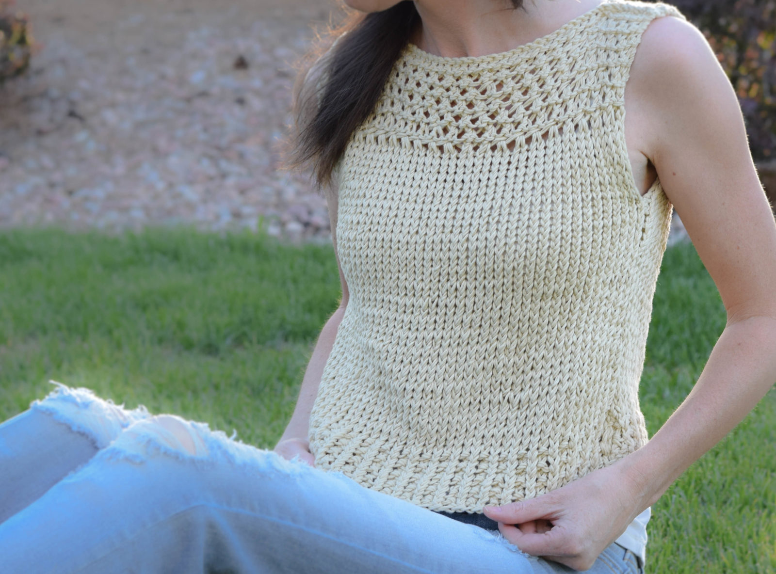 Easy Knit Summer Top Pattern Free 2