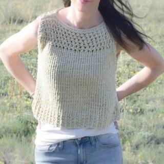 Easy Knit Summer Tops Pattern 2