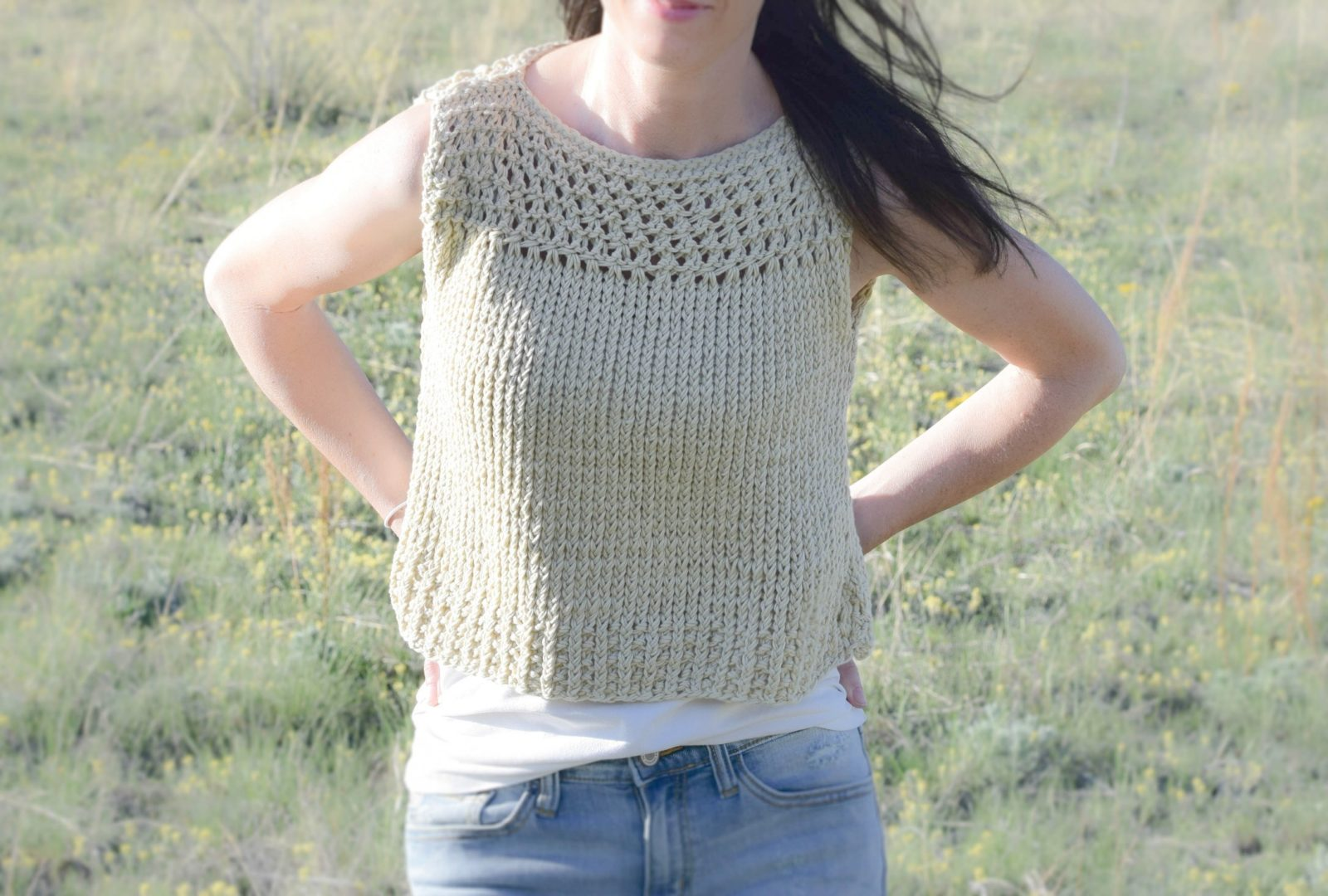 Summer Knitting Patterns : Summer Vacation Knit Top Pattern   Mama In A Stitch
