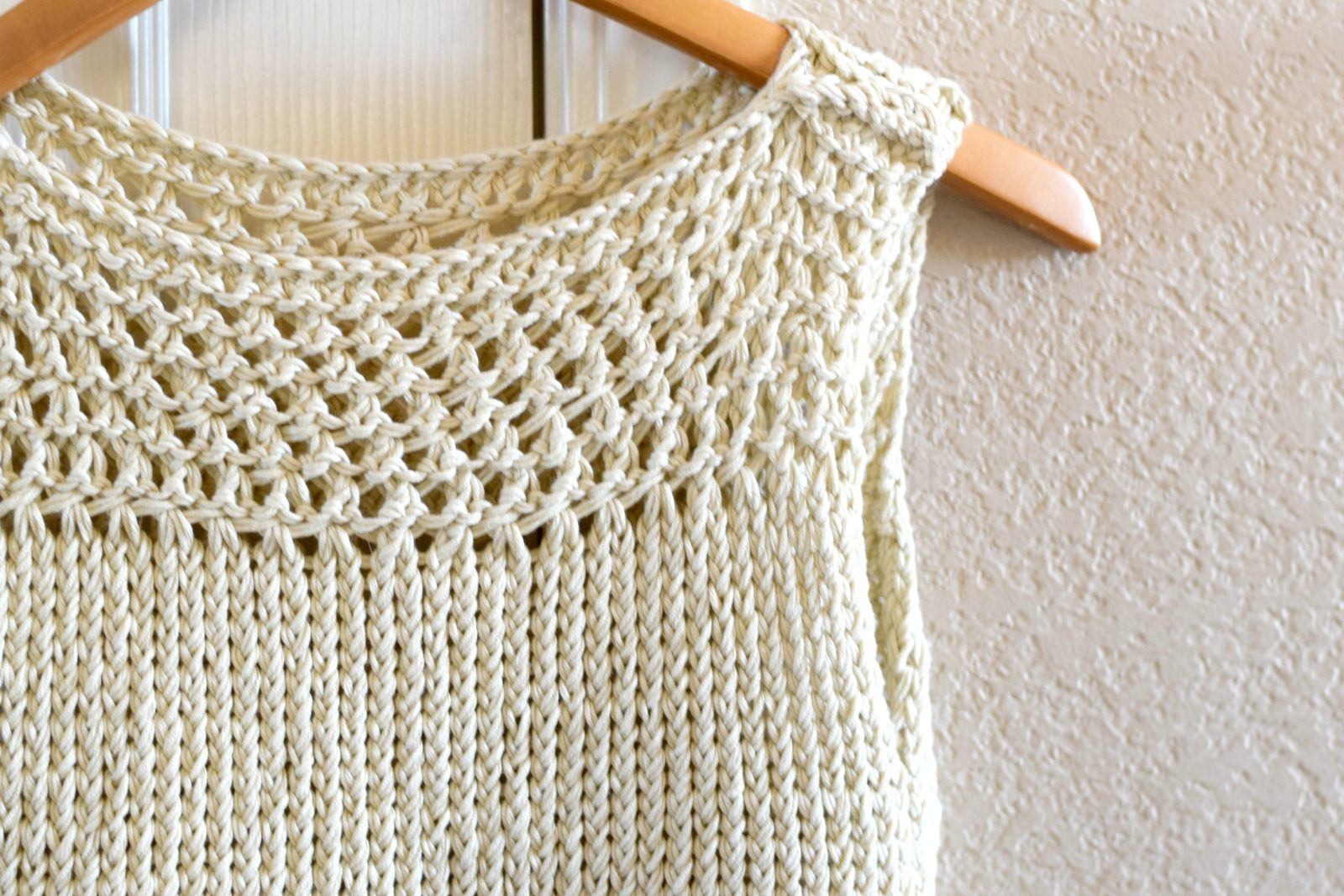 Easy Knit Summer Tops Pattern Mesh
