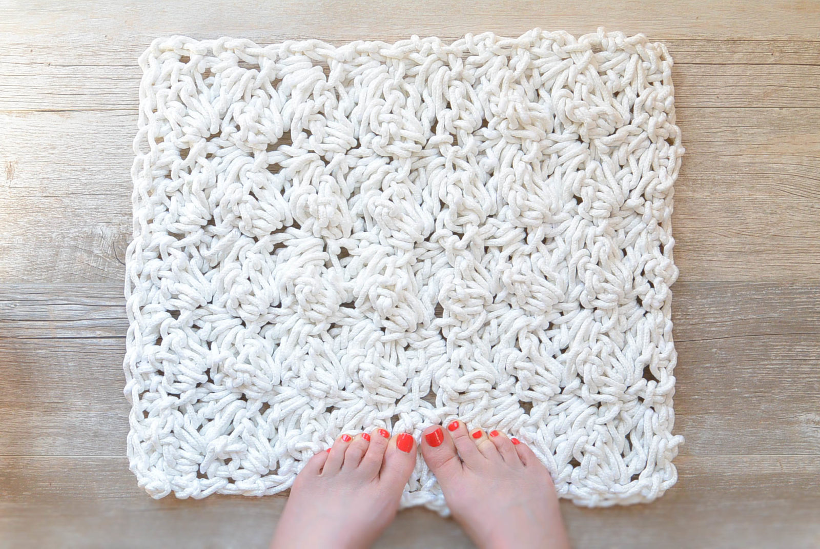 How To Crochet A Bath Rug With Rope Mama In A Stitch