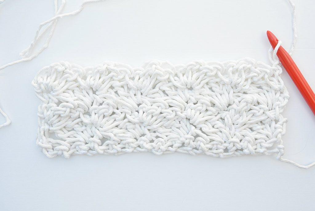 How to crochet rug halfway
