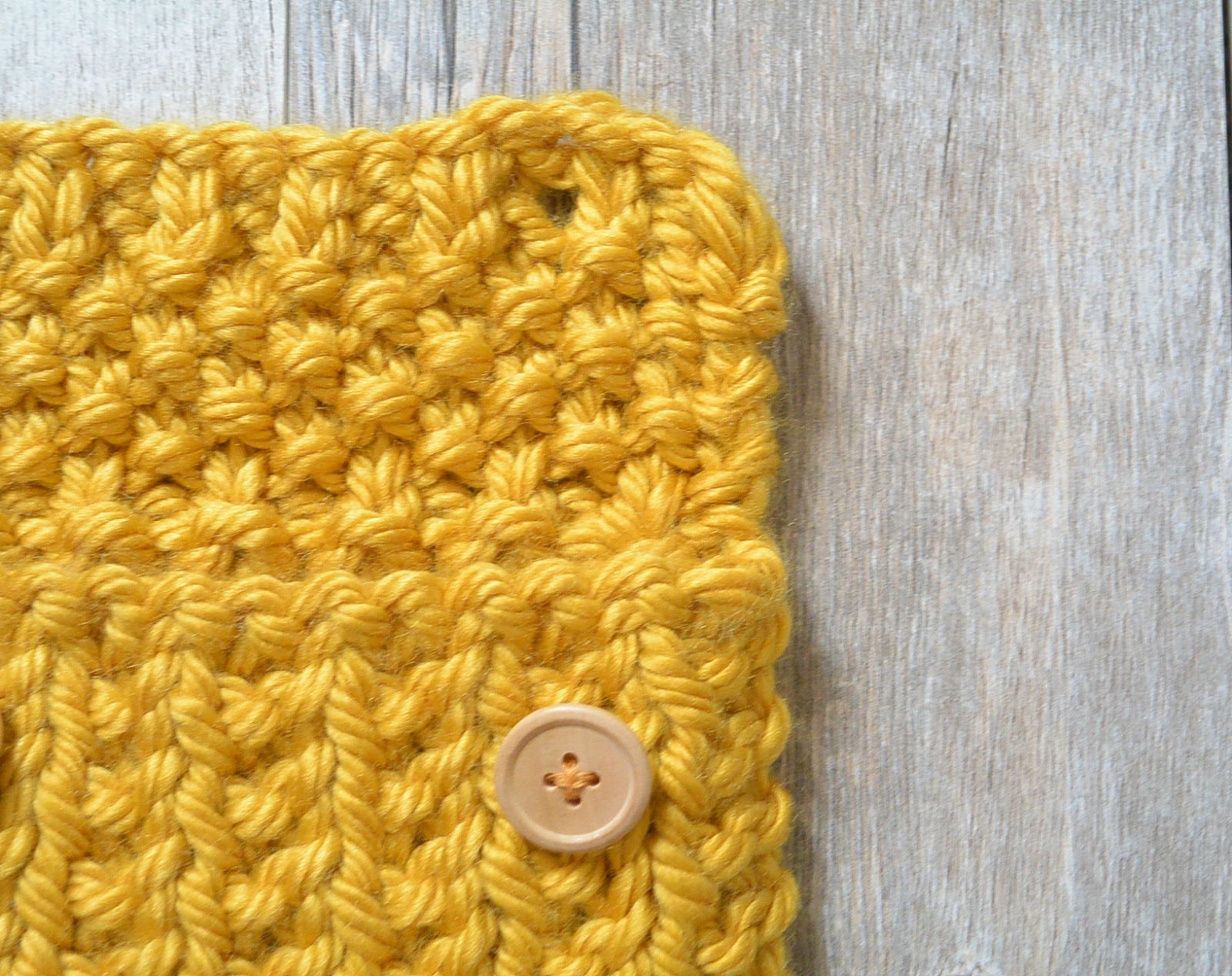 Knit Pouch Button Closure