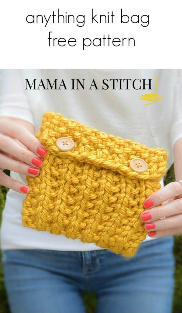 easy knit bag free pattern