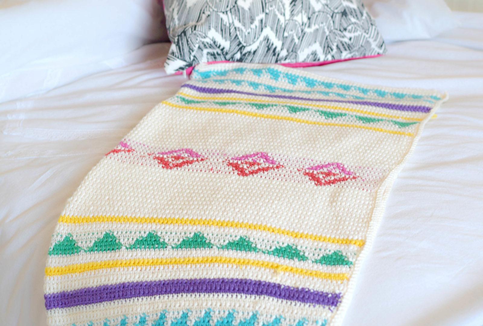 modern camp crochet blanket pattern – mama in a stitch - campy crochet blanket pattern free southwest
